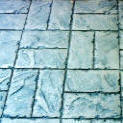 "6"" x 12"" Basket Weave Stone Stamped Concrete"