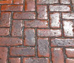Old Brick Herringbone Stamped Concrete