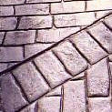 Old Englysh Cobblestone Soldier Course Stamped Border
