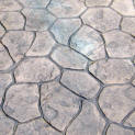 Stamped Concrete Walkway - Small Random Stone