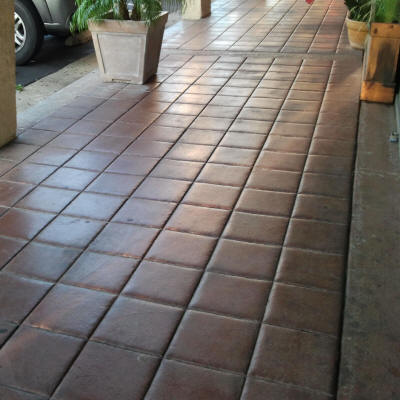 12 tile with tooled joints matcrete decorative concrete for 12x12 mexican floor tile