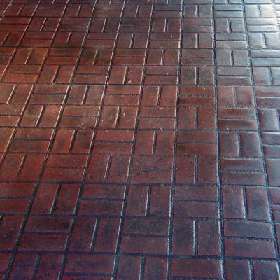New Brick Basket Weave Matcrete Decorative Concrete Products