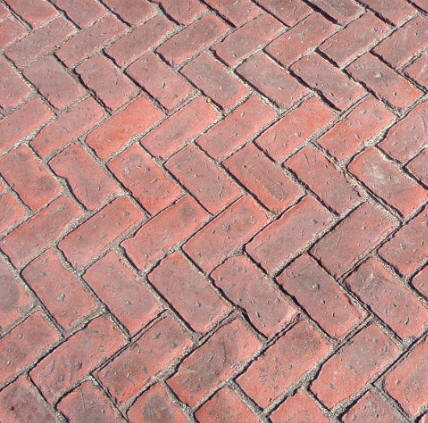 Old Brick Herringbone Matcrete Decorative Concrete Products